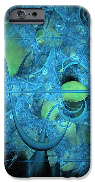 Asymmetrical Mixed Media iPhone Cases - Life Behind The Curtain iPhone Case by Georgiana Romanovna