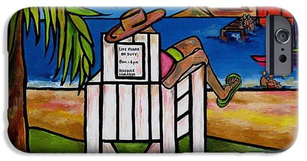 Sailboat Ocean iPhone Cases - Life Guard In Jamaica iPhone Case by Patti Schermerhorn