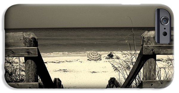 Beach Landscape iPhone Cases - Life is a beach iPhone Case by Susanne Van Hulst