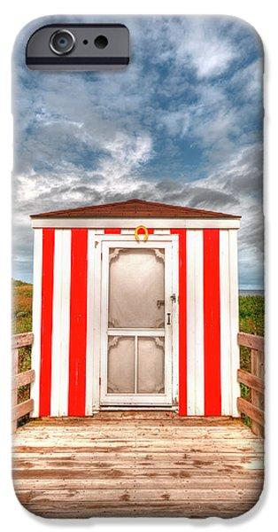 Lifeguard Hut iPhone Case by Elisabeth Van Eyken
