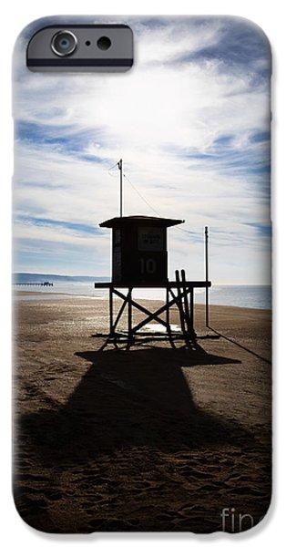 Lifeguard Tower Newport Beach California iPhone Case by Paul Velgos