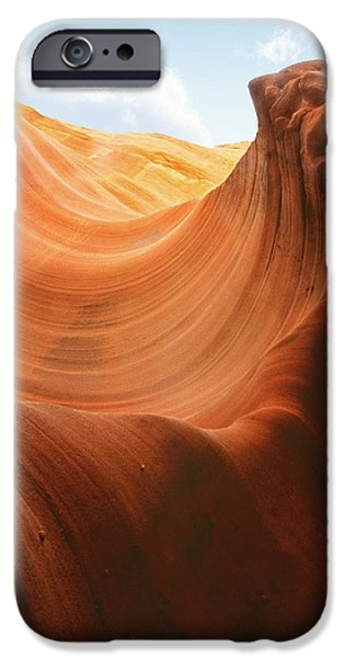 Arizona iPhone Cases - Light at the End of the Tunnel - Antelope Canyon AZ iPhone Case by Christine Till