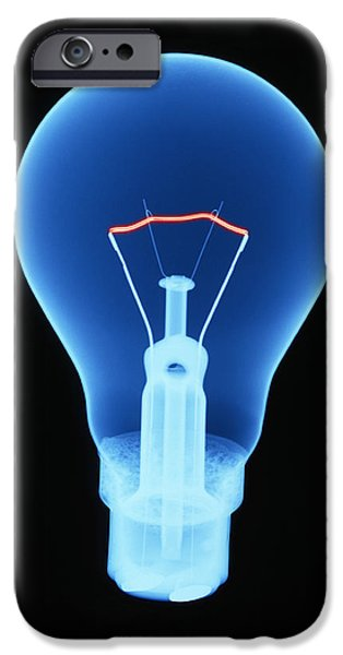Electrical Equipment iPhone Cases - Light Bulb iPhone Case by D. Roberts