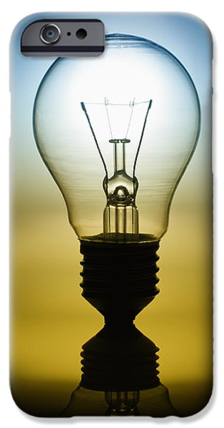 Problems iPhone Cases - Light Bulb iPhone Case by Setsiri Silapasuwanchai