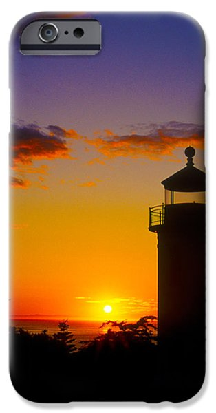 Casey iPhone Cases - Light House at Fort Casey Washington iPhone Case by Gary Langley
