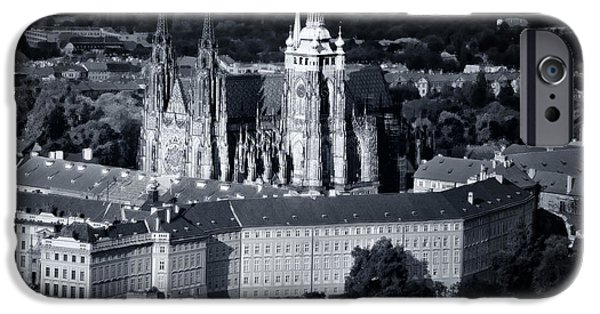 Town iPhone Cases - Light on the Cathedral iPhone Case by Joan Carroll