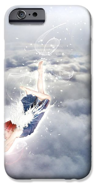 Light Play Angels Descent iPhone Case by Nikki Marie Smith