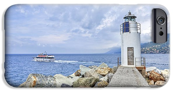 Genoa iPhone Cases - Lighthouse Camogli iPhone Case by Joana Kruse