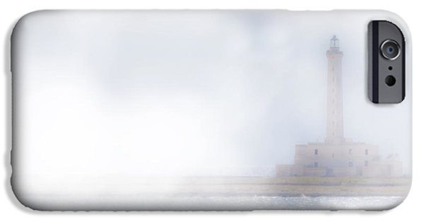 Lighthouse iPhone Cases - Lighthouse in the fog iPhone Case by Joana Kruse