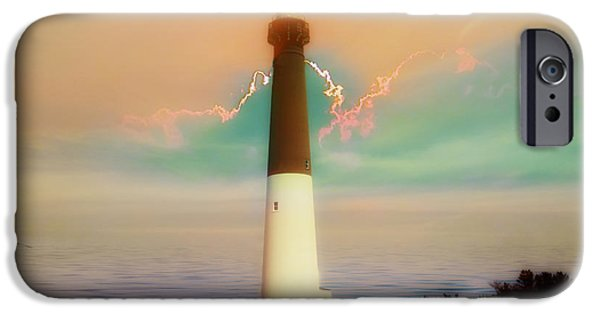 New England Lighthouse iPhone Cases - Lighthouse Sunrise iPhone Case by Bill Cannon