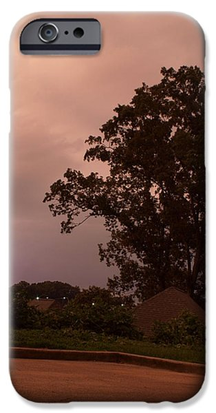 Skewed iPhone Cases - Lightning Strike in Mississippi iPhone Case by Joshua House