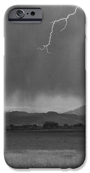 Lightning Striking Longs Peak Foothills 5BW iPhone Case by James BO  Insogna
