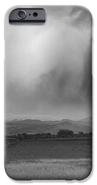 Lightning Striking Longs Peak Foothills 6BW iPhone Case by James BO  Insogna