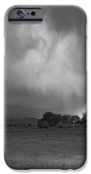 Lightning Striking Longs Peak Foothills 8CBW iPhone Case by James BO  Insogna