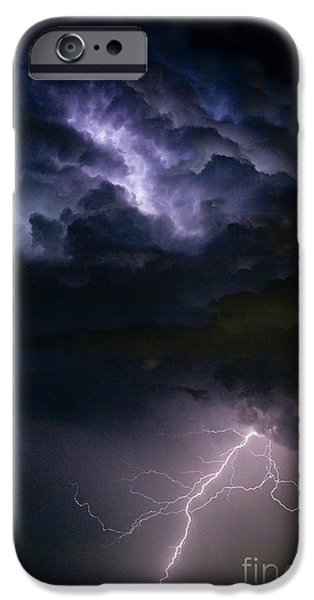 Photography Lightning iPhone Cases - Lightning Thunderhead Storm Rumble iPhone Case by James BO  Insogna
