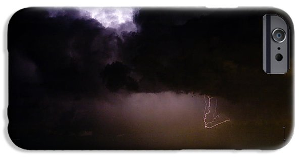 Lightning Images iPhone Cases - Lightning Thunderstorm Cell 08-15-10 iPhone Case by James BO  Insogna