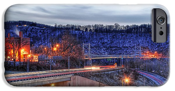 City Scape iPhone Cases - Lights On A Winter Night iPhone Case by Tony  Bazidlo