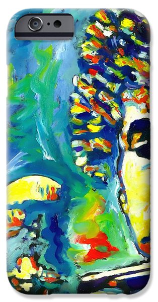 Keyboard Paintings iPhone Cases - Like A Rolling Stone iPhone Case by Vel Verrept