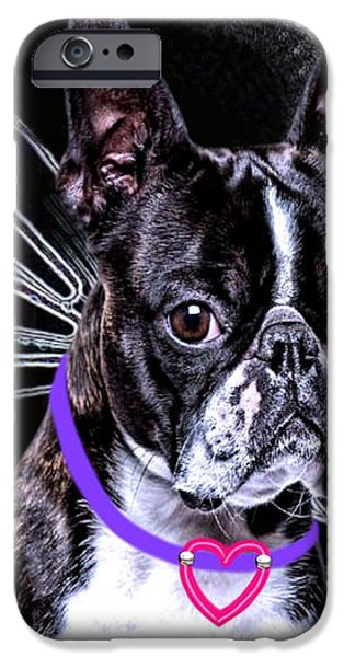 lil Angels Boston Terrier iPhone Case by Tisha McGee
