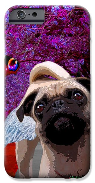 lil Angels Protective Eyes iPhone Case by Tisha McGee
