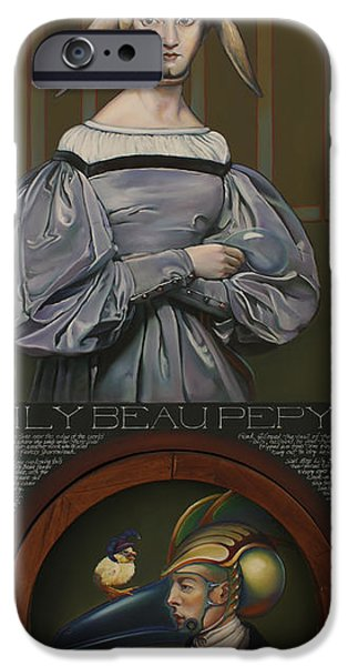 Nursery Rhyme iPhone Cases - Lily Beau Pepys iPhone Case by Patrick Anthony Pierson