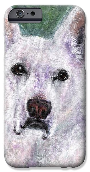 German Shepard iPhone Cases - Lily iPhone Case by Frances Marino