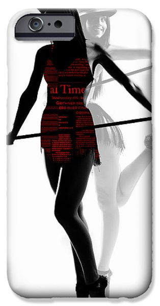 Ballet Digital Art iPhone Cases - Limelight iPhone Case by Naxart Studio