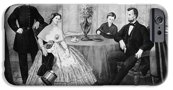 First Lady iPhone Cases - Lincoln & Family iPhone Case by Granger