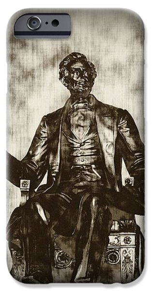 Lincoln - Pen in Hand iPhone Case by Bill Cannon