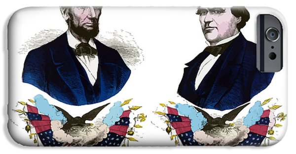 American History iPhone Cases - Lincoln and Johnson iPhone Case by War Is Hell Store