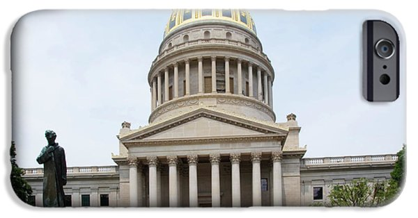 Of Power iPhone Cases - Lincoln and West Virginia Capitol iPhone Case by Thomas R Fletcher
