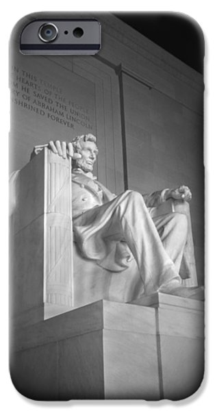 Memorial Digital iPhone Cases - Lincoln Memorial  iPhone Case by Mike McGlothlen