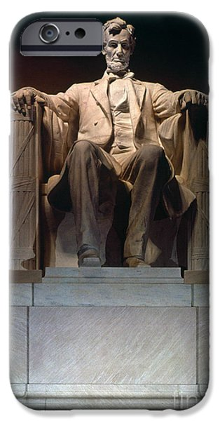 Best Sellers -  - Statue Portrait iPhone Cases - Lincoln Memorial: Statue iPhone Case by Granger