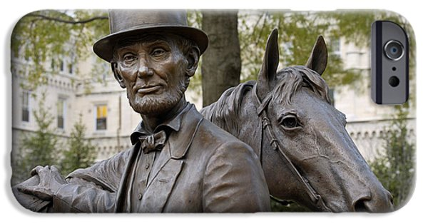 Statue Portrait iPhone Cases - Lincoln Statue, 2008 iPhone Case by Granger
