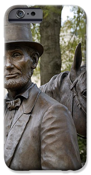 LINCOLN STATUE, 2008 iPhone Case by Granger
