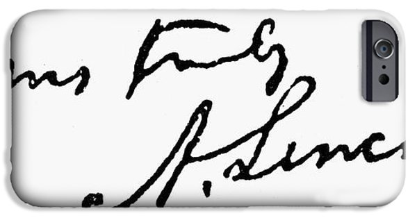 Autographed iPhone Cases - Lincolns Autograph iPhone Case by Granger
