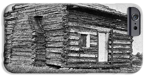 Log Cabin Photographs iPhone Cases - Lincolns Birthplace iPhone Case by Granger