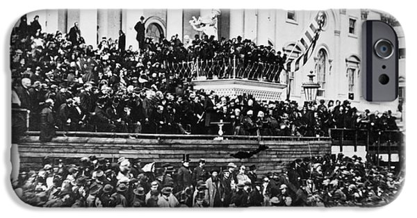 Inauguration Photographs iPhone Cases - Lincolns Inauguration, 1865 iPhone Case by Granger