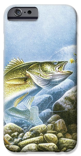 Jq Licensing iPhone Cases - Lindy Walleye iPhone Case by JQ Licensing