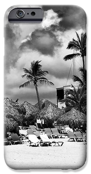 Lined Up at Punta Cana iPhone Case by John Rizzuto