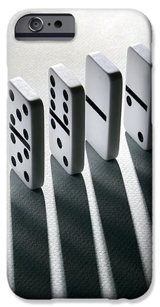 Lined Up Dominoes iPhone Case by Victor De Schwanberg