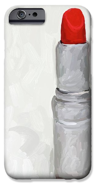 Lipstick I iPhone Case by Jai Johnson