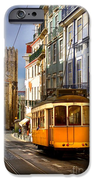 Ancient iPhone Cases - Lisbon Tram iPhone Case by Carlos Caetano