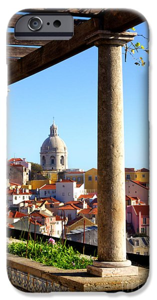 Balcony iPhone Cases - Lisbon View iPhone Case by Carlos Caetano