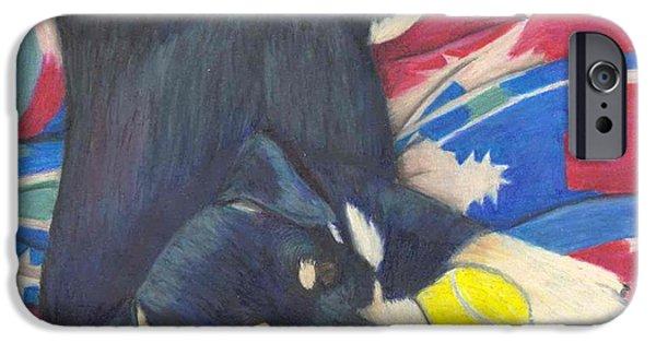 Huskies Pastels iPhone Cases - Little Angel Bear iPhone Case by Mendy Pedersen