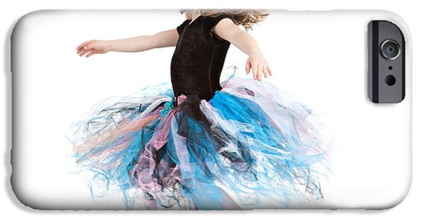 Dance Studio iPhone Cases - Little Ballerina iPhone Case by Cindy Singleton