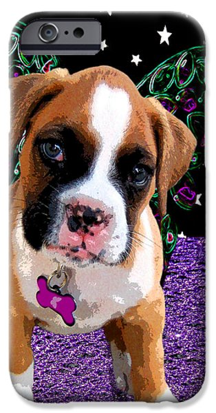 Little Boxer Butterfly iPhone Case by Tisha McGee