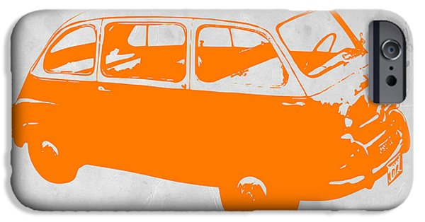 Concept Cars Digital iPhone Cases - Little bus iPhone Case by Naxart Studio