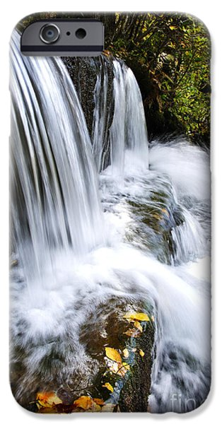 Little Elbow Waterfall iPhone Case by Thomas R Fletcher