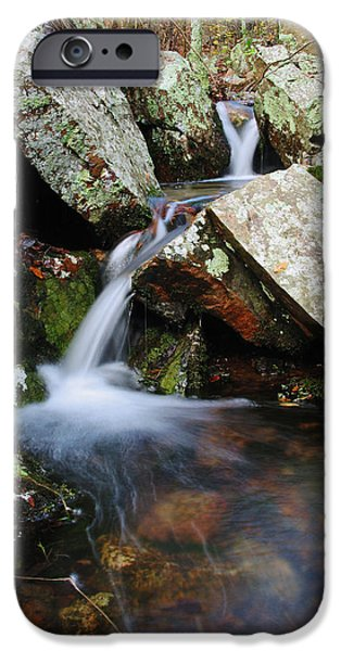 Forest iPhone Cases - Little Falls in the St Francois Mountains iPhone Case by Greg Matchick